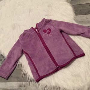 Girls adidas purple fleece jacket size 12M